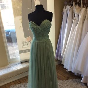 Dresses & Skirts - Mint Green strapless Formal